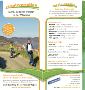 Elektroscooter Wachau